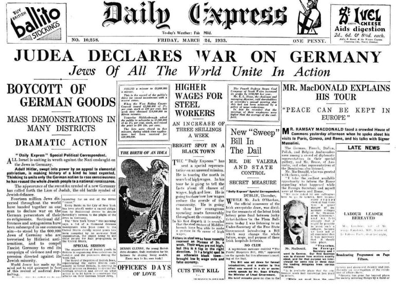 dailyexpress_march1933_judeafrontpagejpg