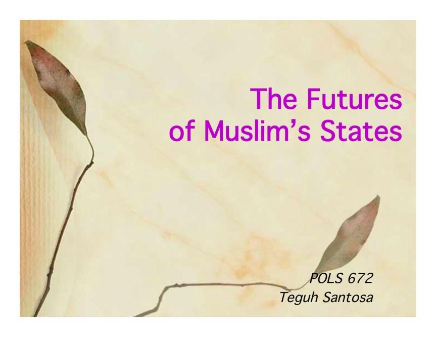 muslim state